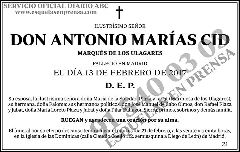 Antonio Marías Cid